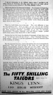 1934 Mar 2nd Fifty Shilling Tailors (2)