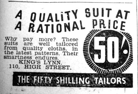 1938 Jan 7th Fifty Shilling Tailor