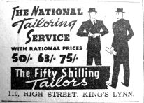 1940 Jan 19th Fifty Shilling Tailor