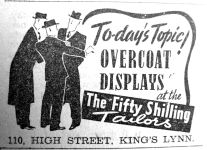 1940 Jan 26th Fifty Shilling Tailor