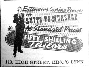1940 May 3rd Fifty Shilling Tailor