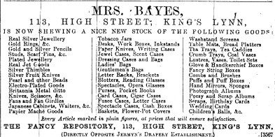 1883 31st March Bayes 113