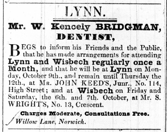 1843 Sept 26th W Kencely Bridgman @ Keeds 114