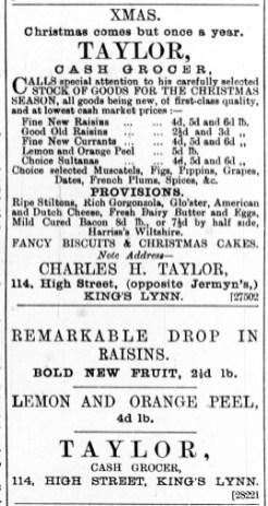 1887 December 17th C H Taylor @ No 114