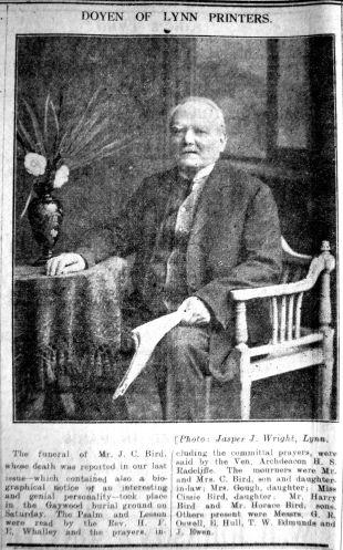 1929 July 26th J C Bird printer
