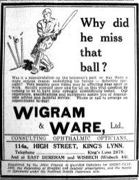 1938 July 22nd Wigram & Ware