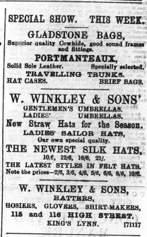 1896 May 23 W Winkley @ No 115 & 116