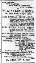 1888 August 4th W Winkley @ 115