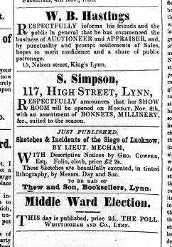 1858 Nov 6th S Simpson @ 117