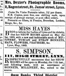 1863 May 9th Sarah Simpson @ No 117