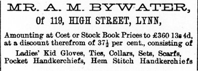 1877 4th Aug A M Bywater