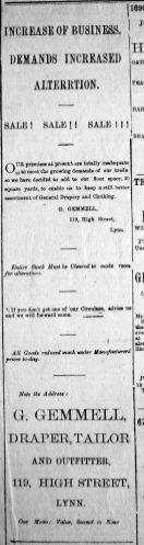 1890 Feb 15th Gemmells alterations
