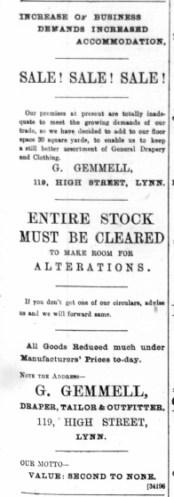 1890 February 15th G Gemmell @ No 119