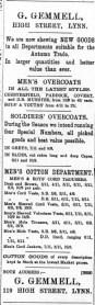 1896 Sept 5th G Gemmell @ 119