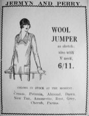 1926 May 14th Jermyn & Perry wool jumper