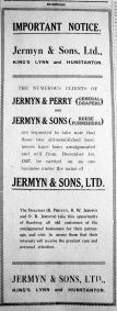 1927 Dec 2nd Jermyn & Sons Ltd notice