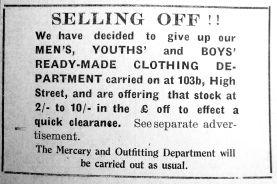 1927 Nov 11th Jermyn & Perry selling 103b 1