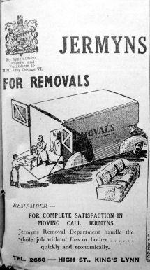 1951 Dec 28th Jermyns removals