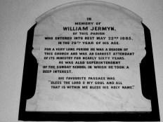 Jermyn memorial Fairland church Wymondham