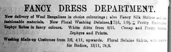 1892 July 2nd Jermyn & Perry Fancy Dress Dept