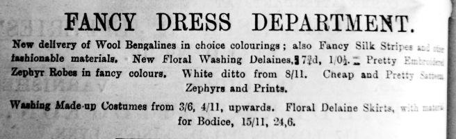 1892 July 2nd Jermyn & Perry Fancy Dress Dept