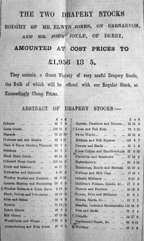 1893 Oct 7th Jermyn & Perry 2 drapery stocks