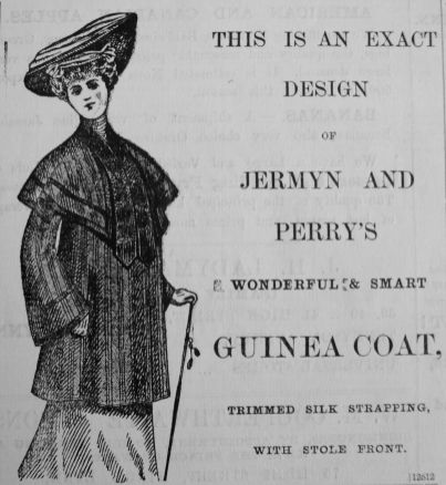 1903 Oct 30th Jermyn & Perry Guinea Coat