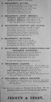 1906 Feb 16th Jermyn & Perry List of Departments a