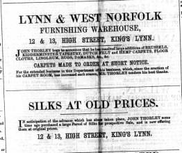 1867 April 20th John Thorley @ 12 & 13