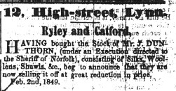 1849 Feb 3er Ryley & Catford