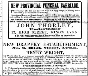 1860 March 3rd John Thorley funerals @ No 12