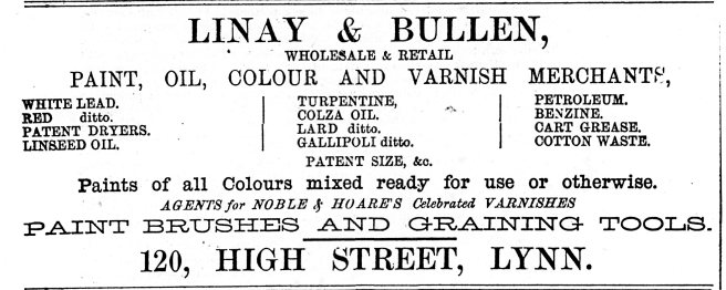 1878 27th April Linay & Bullen