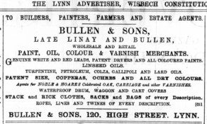 1887 April 2nd Bullen & Sons @ No 120