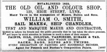 1891 November 28th W O Smith @ No 120