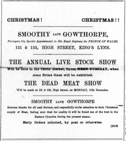 1888 December 8th Smoothy late Gowthorpe @ Nos 121 & 122