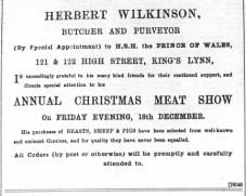 1896 Dec 11 Herbert Wilkinson @ Nos 121 & 122