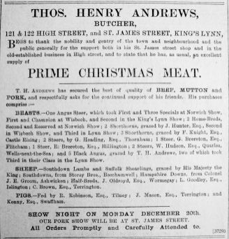 1909 Dec 17th T H Andrews