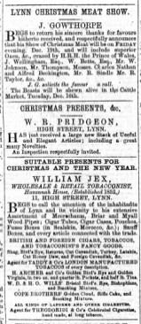 1873 Dec 13th J Gowthorpe @ No 122