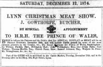 1874 December 12th Joseph Gowthorpe @ 122