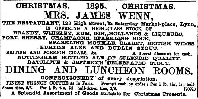 1895 Dec 14th Wenns @ 123