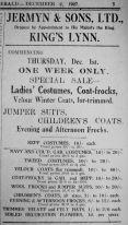 1927 Dec 2nd Jermyn & Sons Ltd first ad