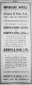 1927 Dec 2nd Jermyn & Sons Ltd notice
