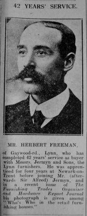 1927 May 13th Herbert Freeman (Jermyns buyer)