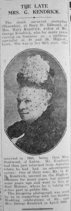 1929 Feb 22nd obit Mrs Kendrick (1)