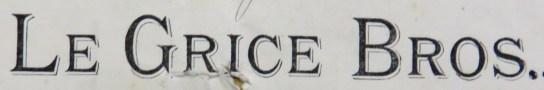 1916 Le Grice letter heading