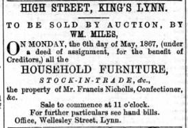 1867 May 4th Francis Nichols