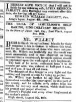 1864 August 13th Willett Nos 23 to 26