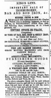1866 June 9th Auction Willetts stock @ 23 to 26