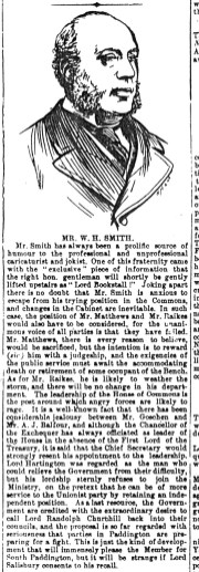 1892 WH Smith profile LN&CP