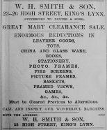 1906 Feb 16th W H Smith & Son succeed Dexter
